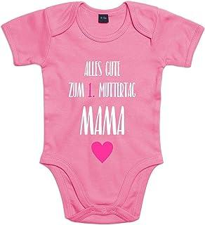 Shirt-Panda Baby-Body Zum 1. Muttertag Für Jungen Und Mädchen Mit Motiv Spruch Alles Gute zum ersten Muttertag