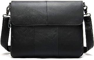 BAIGIO Bandolera Hombre Piel Vintage, Bolso de Hombro Cuero Bolso de Mensajero Crossbody Bag para Trabajos Negocios