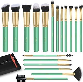 LEUNG Makeup Brushes, 18 Pcs Makeup Brush Set, Premium Synthetic Foundation Powder Concealers Eye shadows Blush Makeup Brushes (Mint Green)