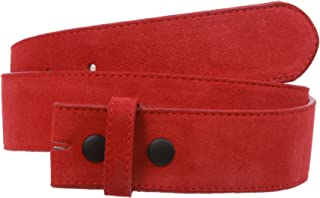 """1 1/2"""" Snap On Suede Leather Belt Strap"""