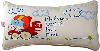 Cojín personalizado de bebe natalicio 40 x 25 cm. Formula 1 ...