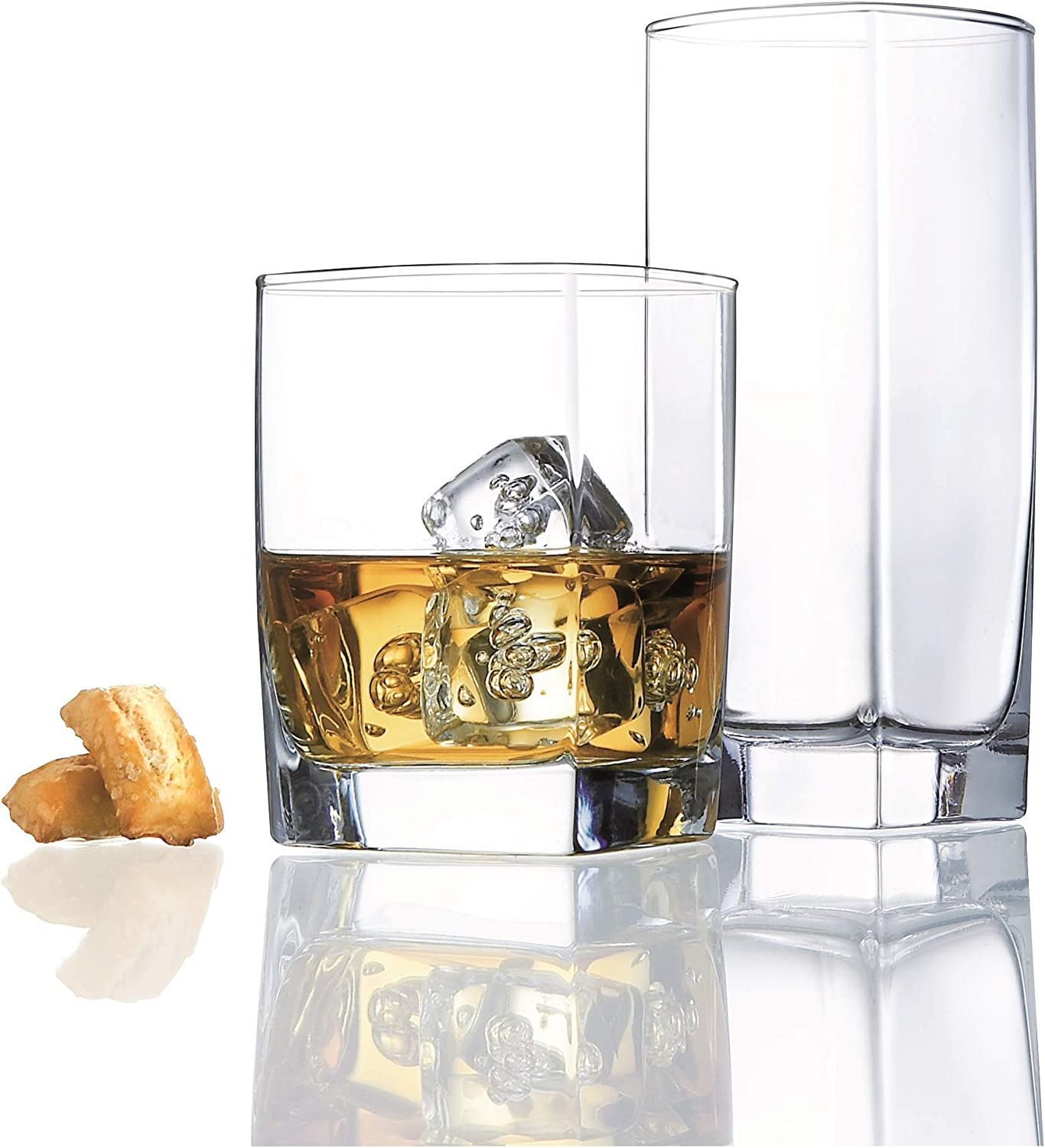 Limited Special Price Durable Drinking Glasses Product Set of 8 Glassware 16 Includes Hi