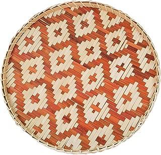 Ann Lee Design Round Serving Trays (Diamond Brown)
