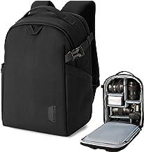 BAGSMART Camera Backpack, DSLR SLR Camera Bag Fits up to 14 Inch Laptop Water Resistant with Rain Cover, Tripod Holder for...