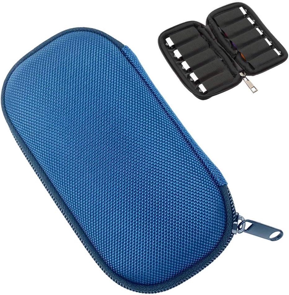 USB Flash Drive Case, JBOS EVA Hard Storage Bag Electronic Accessories Organizer Holder for Flash Drive Carry Case for USB Drive/Thumb Drive/Pen Drive/Jump Drive (Blue)