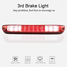 for 2004-2012 Chevy Chevrolet Colorado/GMC Canyon 3rd Third Brake Light Cargo Light High Mount LED Tail Lamp (Red Lens)