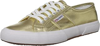 Superga Womens 2750 Cotmetu Gold Synthetic Trainers, 7 AU