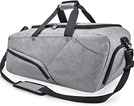 39e3504afb NUBILY Sac de Sport Homme Sac Fitness Gym avec Compartiment à Chaussures Sac  Voyage Weekend Waterproof
