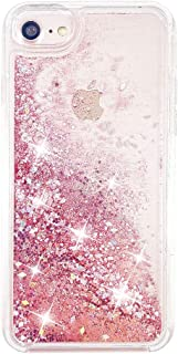 uCOLOR Rose Pink Glitter Case for iPhone 8/7 iPhone 6S/6 Case for Girls(4.7