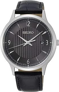 Seiko neo Classic Mens Analog Quartz Watch with Leather Bracelet SGEH85P1