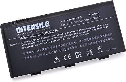 INTENSILO Li-Ion Akku 9000mAh  10 8V  f r Notebook Laptop Medion Erazer X7819 wie BTY-M6D