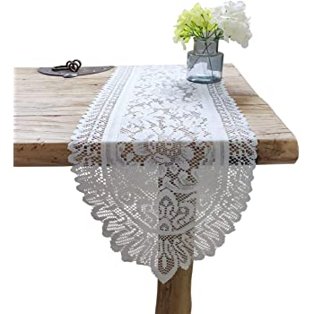 Amazon Com Classic Collection Designer Lace Doily Table Runner Dresser Scarf 1 16 X 36 Assorted Colors Home Kitchen