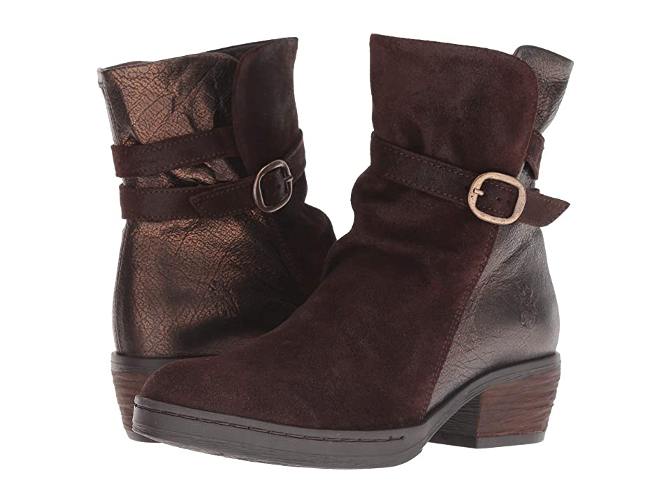 FLY LONDON CIMP269FLY (Expresso/Bronze Oil Suede/Adraga) Women
