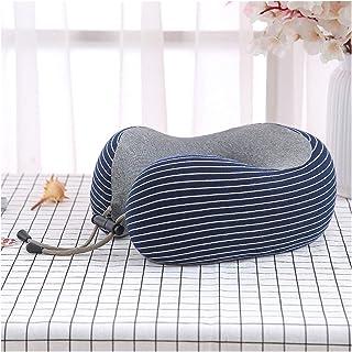 AleXanDer1 トラベルピロ 縞模様のトラベルネックピローU字型の枕オフィスランチブレイクピロー軽量車のシート飛行機の寝台パッド (Color : A)