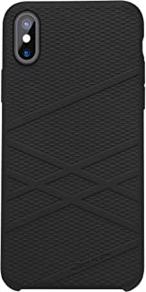 Nillkin Iphone X Flex Series Case Anti-Slip Silicone Rubber Case With Soft Microfiber Lining -Black