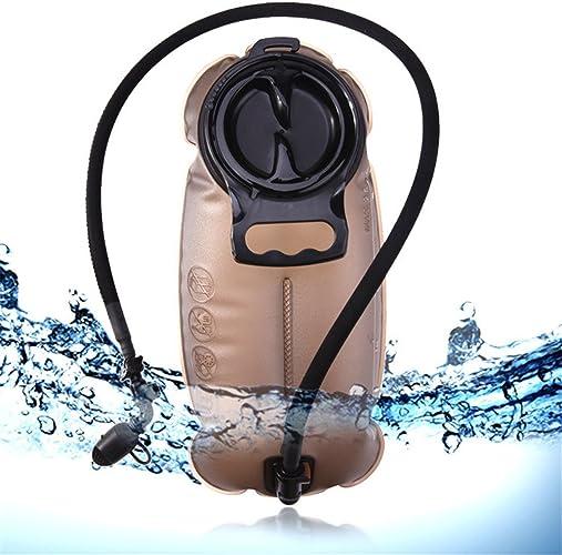 QAR Tuyau d'eau Potable Bcourir Grande Bouche 2L Robinet D'isolation Sac hydraté (Taille   3L)