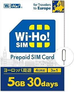 【海外SIMならWi-Ho!SIM】 ヨーロッパ 周遊 32カ国対応 5GB 30日間 4G LTE データ専用 事前設定不要 SIMピン付き 日本語24Hサポート ドイツ スペイン イタリア スイス フランス