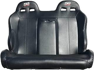 50 Caliber Racing Polaris RZR 4 Seater Rear Bench Seat Black Vinyl Carbon Fiber Look - Fits XP4 1000, XP4 Turbo [5048A10]