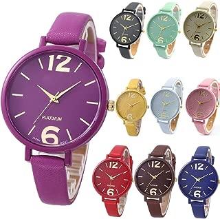 10 Pack Unisex Women Men Watches Big Dial Lover Gift Leather Bracelet Wristwatch Wholesales …
