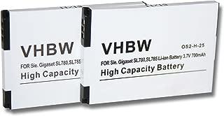 2012 Elite 4G 3.7V Naga Epic como FT703437PP para Gaming Mouse Razer Mamba RC03-001201 RZ03-00120100-0000. vhbw Li-Ion Bater/ía 500mAh 2012