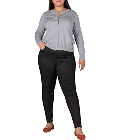 Jag Jeans Plus Size Valentina Pull-On High-Rise Skinny Fit Jeans (Forever Black) Women