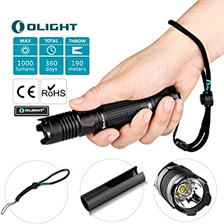 OLIGHT M1X 1000 Lumens Cree XM-L2 LED Flashlight Double Switch Tail Switch 18650 Battery Flashlight