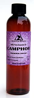 Camphor Essential Oil White Organic Aromatherapy Therapeutic Grade 100% Pure Natural 4 oz