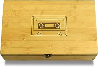 Cookbook People Cassete Tape Hipster Multikeep Box - Memento Sustainable Bamboo Adjustable Organizer