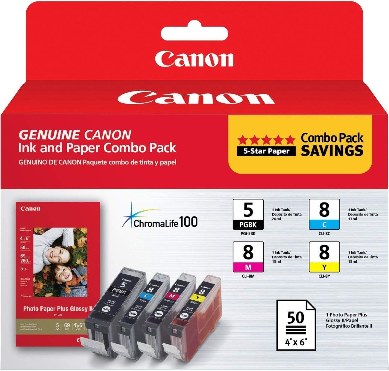 CNM0628B027-0628B027 PGI-5/CLI-8 ChromaLife100 Ink/Paper Combo