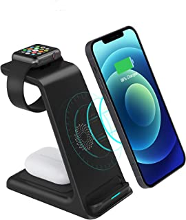 Wireless Charger, LIONAL 3 in 1 Charging Station, Charging Dock for AirPods, Watch Stand for Apple Watch, Qi Fast Charging...