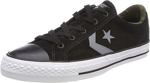 Converse Unisex-Erwachsene Star Player Ox schwarz Cool grau Weiß Fitnessschuhe