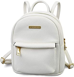 Girl Women Lady Synthetic Leather Small Backpack Back Bag Slightly V-Quilted UK