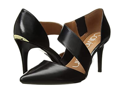Calvin Klein Gella Pump (Black Leather) High Heels