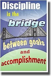 Discipline Is the Bridge Between Goals & Accomplishment 2 - Jim Rohn - New Classroom Motivational Poster