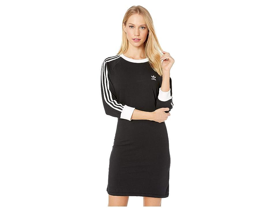 Image of adidas Originals 3-Stripes Dress (Black 2) Women's Dress