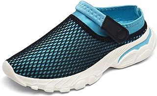 SMajong Men's Women's Garden Clogs Mesh Breathable Comfort Sandals Indoor Outdoor Slippers Beach Walking Shoes Slip On Cas...