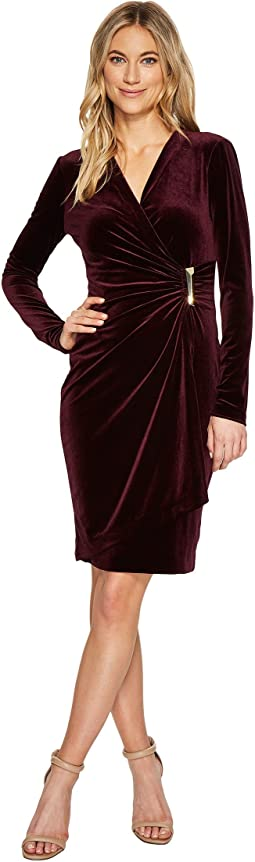 Calvin Klein - Mock Wrap with Side Buckle Dress CD7V132R