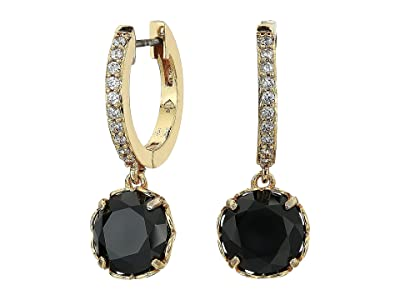 Kate Spade New York That Sparkle Pave Huggies Earrings (Jet) Earring