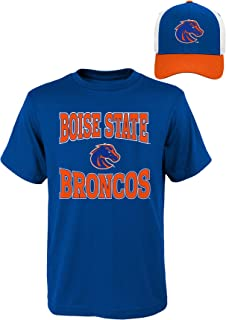 NCAA Boise State Broncos Youth Boys 8-20 Tee & Hat Set, Large (14-16), Assorted Colors