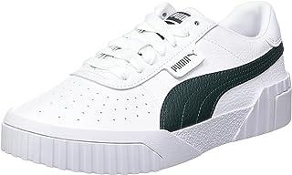 PUMA Cali Wn's, Baskets Femme, White/Green Gables, 42.5 EU