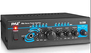 Home Audio Power Amplifier System – 2X120W Mini Dual Channel Mixer Sound Stereo..