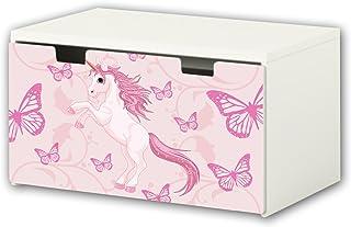comprar comparacion STIKKIPIX Unicornio Pegatina | Pegatinas para Muebles | BT35 | Adecuado para el arcón de Banco STUVA de IKEA para niños (9...