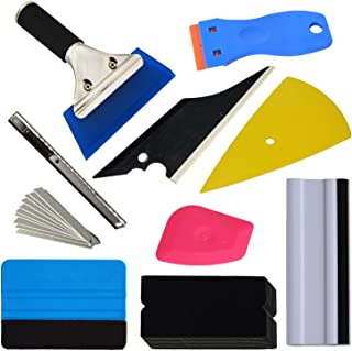 Ehdis 9 Kinds Vehicle Glass Protective Film Car Window Wrapping Tint Vinyl Installing Tool: Squeegees, Scrapers, Film Cutters, Felts