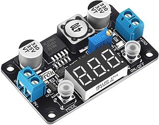 Step Down Module, DROK DC 4-32V to 1.25-30V 3A Adjustable Buck Converter, LM2596 Voltage Regulator Board, 24V 12V to 5V LE...