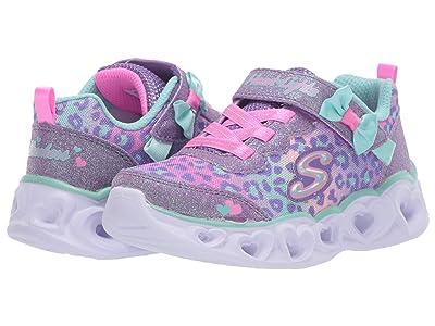 SKECHERS KIDS Sport Lighted Heart Lights Untam 302088N (Toddler/Little Kid) (Lavender/Aqua) Girl