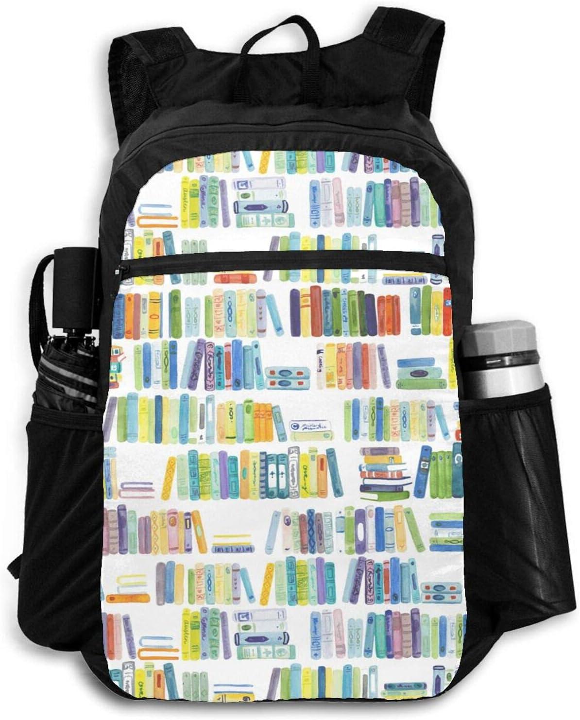 Zolama Books Backpacks Sacramento Mall for Women Light Men Bargain sale Daypack Packable Cute