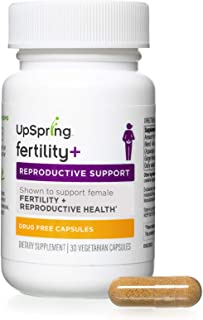 UpSpring Baby Fertility Plus Boost Supplement Pills for Women to Support Ovulation and Egg Quality with Black Cohosh, Maca Root and Shatavari, Preconception and PCOS Supplement