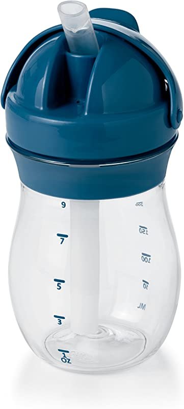 OXO Tot Transitions Straw Cup Navy 9 Ounce