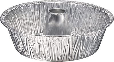 "Disposable Round Cake Baking Pans - Aluminum Foil Bundt Tube Tin Great for Baking Decorative Display, Parties 10"" Round (1..."