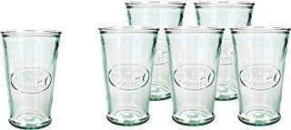 Amici Home, Z7AI4474S6R, Juice De Fruit Italian DOF Glass, Set of 6, 11 oz each, Recycled Green